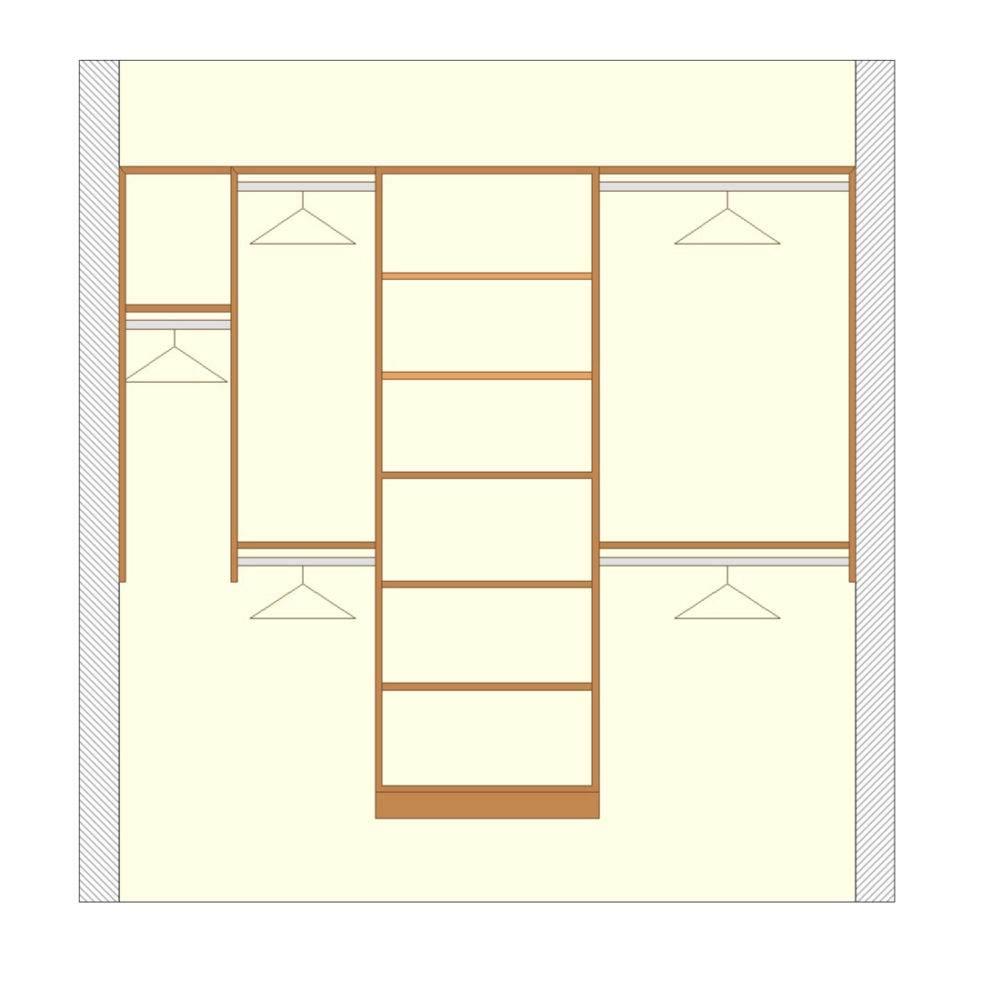 Closetsetc Design Guide Reach In Closet Premium Configuration Transparent
