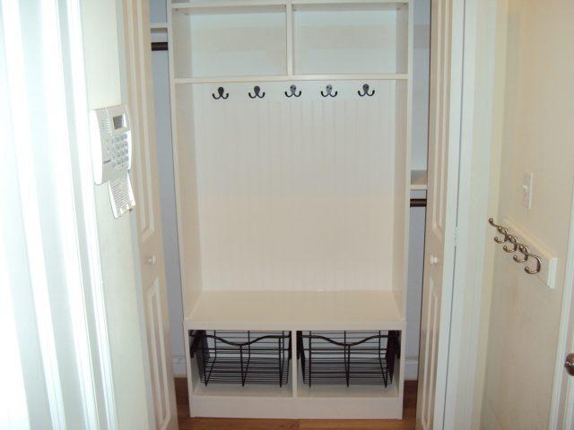 White Mudroom Cabinet