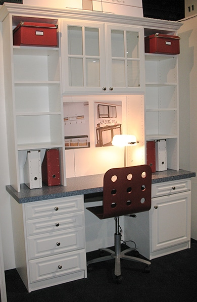 Closets Etc Whitedesk Drawers Shelving With Glass Doors