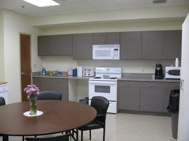 Gray Training Facility Break Room