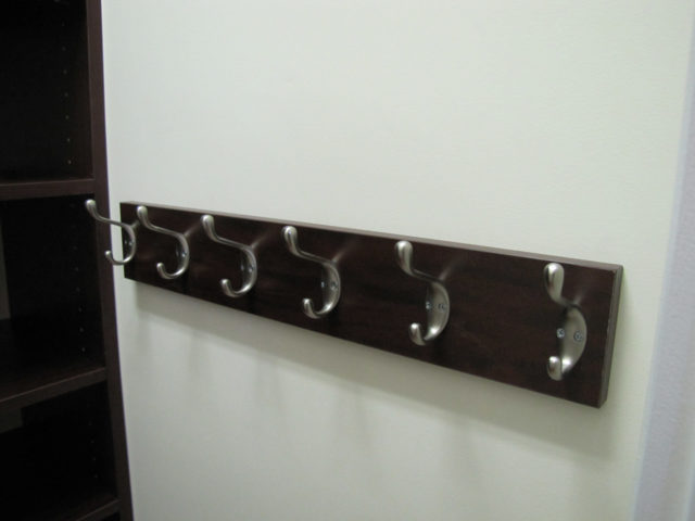 Hook Board With Double Coat Hooks