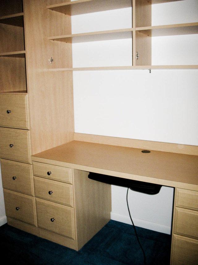Maple Office Wall File Drawers Keyboard Shelf