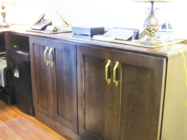 Stained Wood Credenza