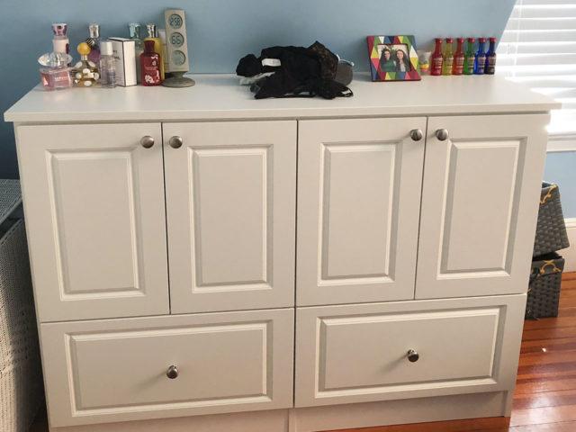 White Bedroom Dresser Teen's Room