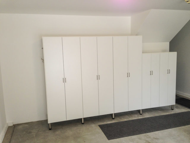 White Cabinets On Metal Legs
