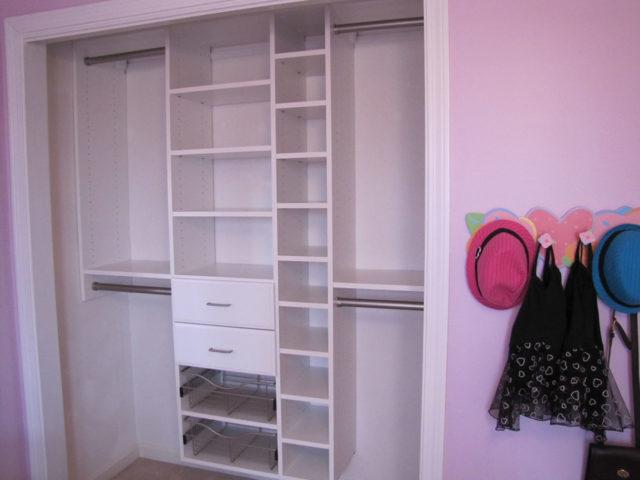 White Child's Reach-In Closet