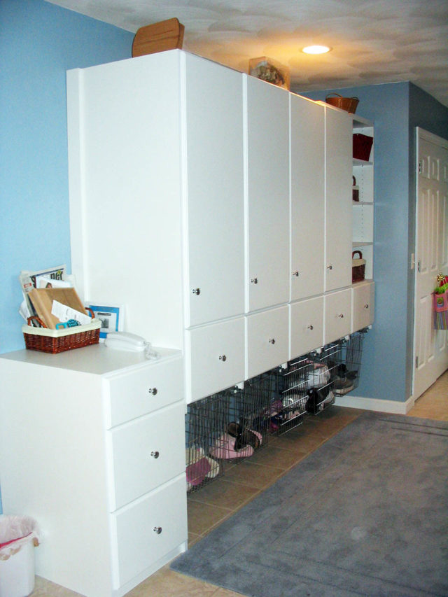 White Locker Storage For Entire Family , Sports Equipment , Bookbags , Etc